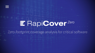 Zero footprint coverage analysis with RapiCover Zero Thumbnail